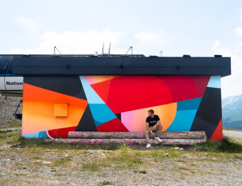 VISION ART FESTIVAL – Mural on a mountain